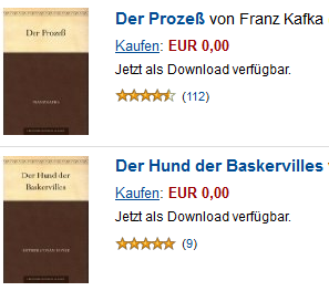 ebookkindle [Gratis] Amazon   5.544 Kindle eBooks komplett kostenlos