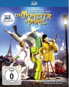ein monster in paris [Schnäppchen] Amazon   Ein Monster in Paris (inkl. 2D Version) [Blu ray 3D] für 8,99€