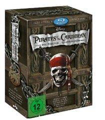 pirates of the caribbean Pirates of the Caribbean   Die Piraten Quadrologie (5 Blu Rays) [Blu ray] für 26,99€ inkl. Versand
