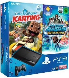 ps3 bundle2 [Schnäppchen] Amazon   Playstation 3 (500GB) + LittleBigPlanet Karting + PlayStation All Stars Battle Royale für 249,00€