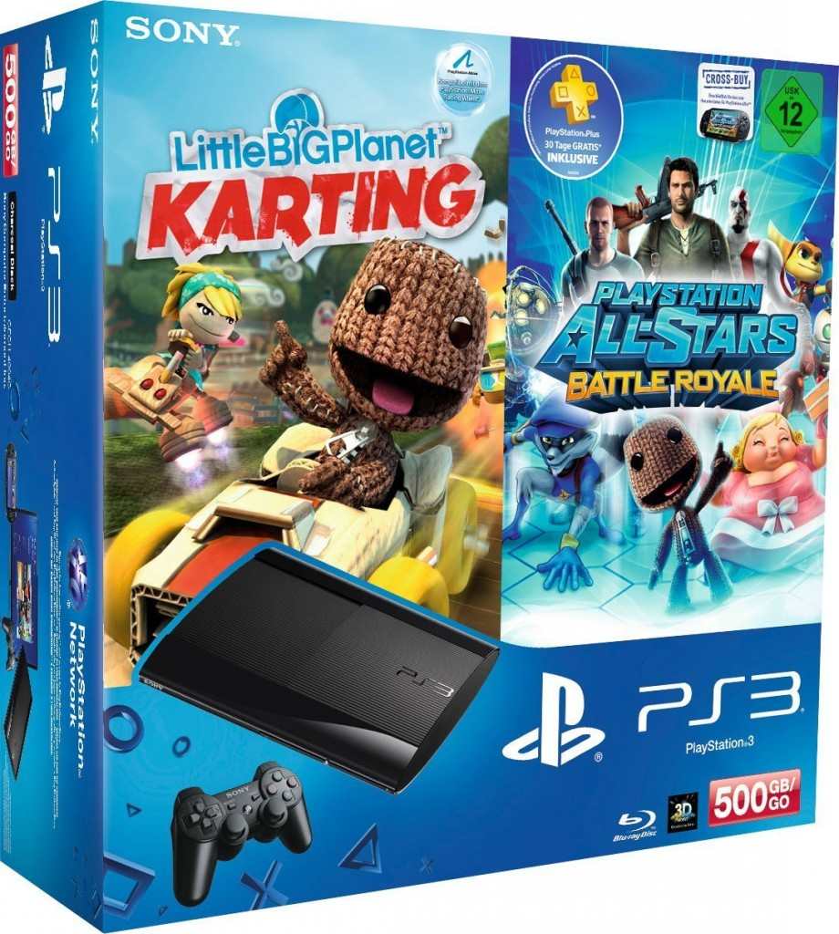 ps3 karting 920x1024 PlayStation 3 Konsole 500GB mit LBP Karting + Battle Royale für 249€