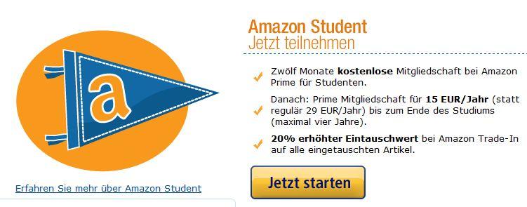 kostenlose amazon prime student