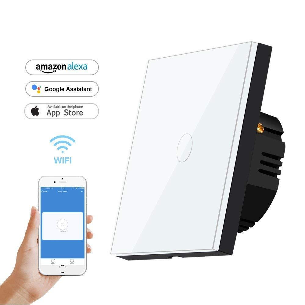 bagotte smart wifi lichtschalter alexa google home f r 9 49. Black Bedroom Furniture Sets. Home Design Ideas