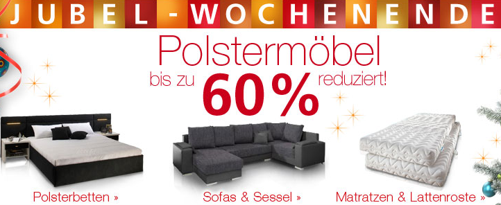aktion neckermann polsterm bel bis zu 60 reduziert. Black Bedroom Furniture Sets. Home Design Ideas