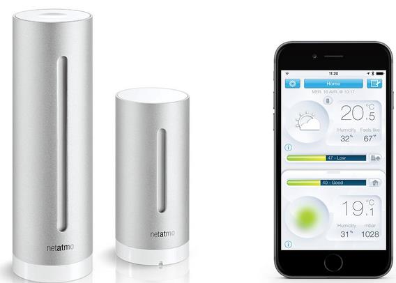netatmo wetterstation f r apple und android wlan silber f r 99 99. Black Bedroom Furniture Sets. Home Design Ideas