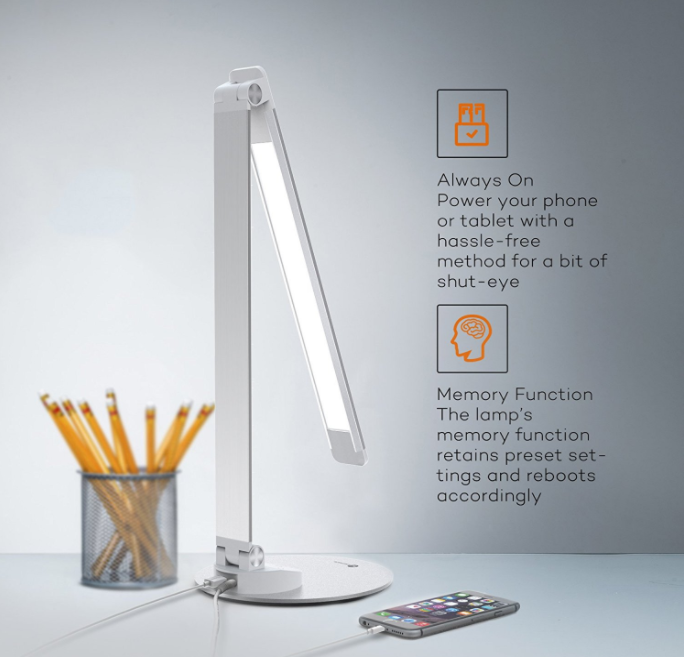 tao tronics led schreibtisch tageslichtlampe mit usb f r 32 99. Black Bedroom Furniture Sets. Home Design Ideas