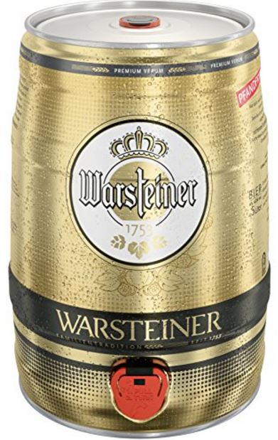 warsteiner pils 1 x 5 l fass f r 8 09. Black Bedroom Furniture Sets. Home Design Ideas